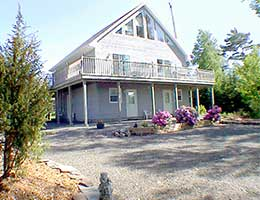 The Bed and Breakfast right at the Shore of the Bras d'Or Lake, on Cape Breton Island, Nova Scotia, Canada