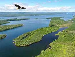 real estate for sale 140 acres at the Bras d'Or Lake on Cape Breton Island, Nova Scotia, Canada