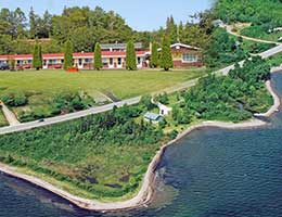 real estate For Sale by owner: Aberdeen Motel on Cape Breton Island at Bras d'Or Lake near Baddeck, near Cape Breton Highlands National Park and 5 Minutes to Cabot Trail, Nova Scotia, Canada, on 3.1 acr property with crystal clear brook on site, includes additional 1,700 sqft home